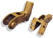 Sand casting arms for welding guns for car industry in aluminium bronze