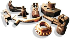 Fully machined connections in copper based alloys made with sand casting process
